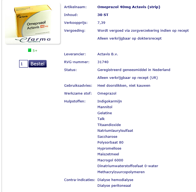 omecat 20 mg